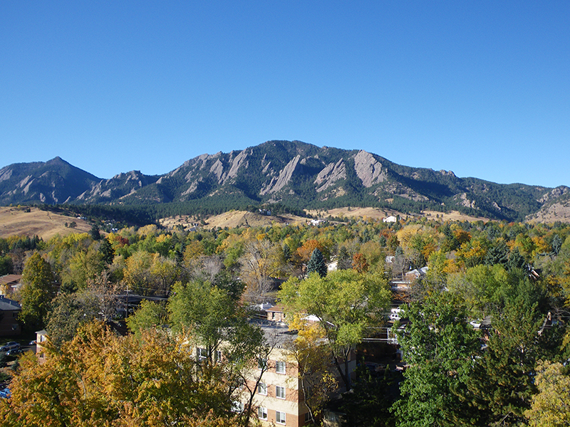 The Flatiron Mountains pictured during autumn