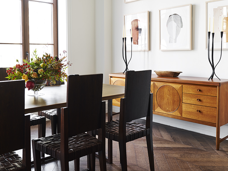 The Fitzroy penthouse's dining room