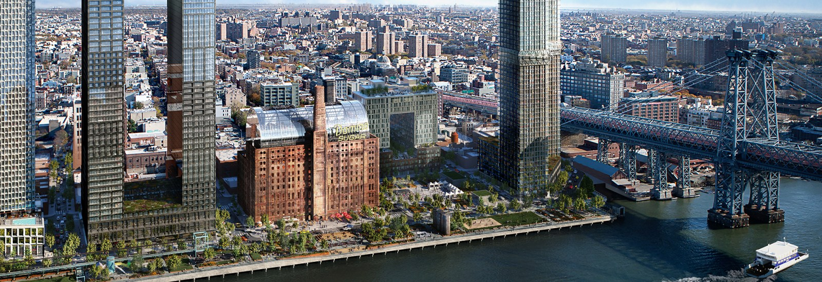 Urban renewal at the Domino Park development in Brooklyn