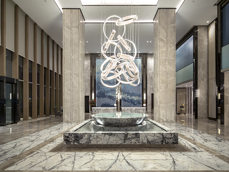A hotel lobby designed by HBA