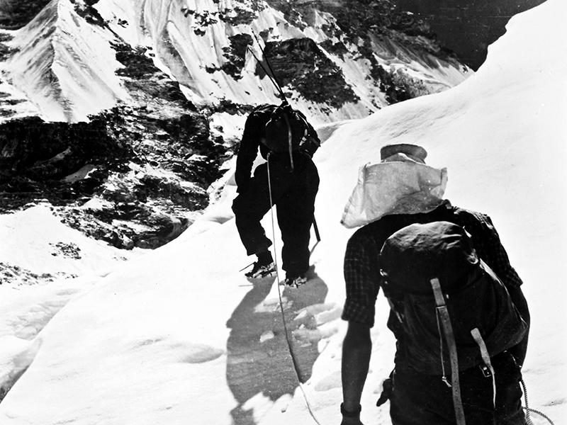 Sir Edmund Hillary and Tenzing Norgay on Mount Everest