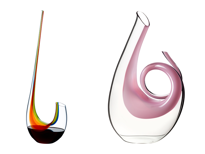 Two wine decanters