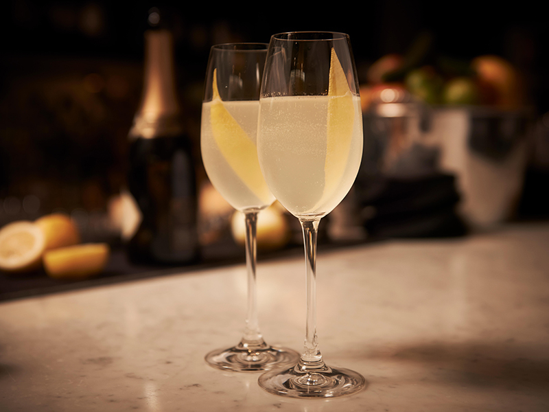 The champagne in French 75 makes for great festive cocktails
