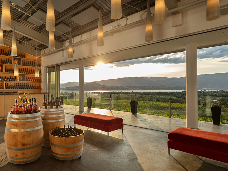 The view from its tasting room makes Tantalus Vineyards perfect for a wine vacation