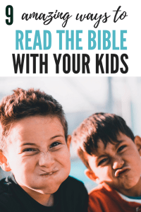 9 ways to study the Bible | Teach the Bible to kids | Bible study for beginners with a printable poster and study guide #Biblestudy #Christianparenting #parentinghelp #faithathome