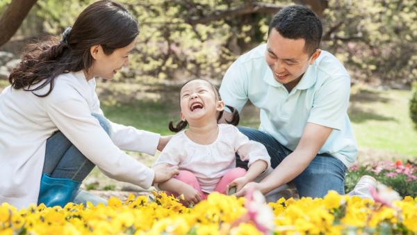 happy family with good habits