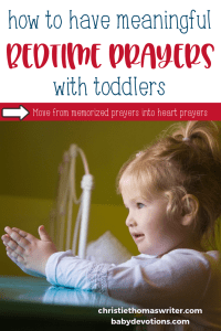 4 tips for meaningful bedtime prayer for toddlers, using Scripture verses from the Bible. These short prayers for children will help with simple night prayer. | Nap time prayer for preschoolers | Prayer points for children #prayer #familydiscipleship #faithathome #Jesus