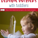 4 tips for meaningful bedtime prayer for toddlers, using Scripture verses from the Bible. These short prayers for children will help with simple night prayer.   Nap time prayer for preschoolers   Prayer points for children #prayer #familydiscipleship #faithathome #Jesus