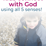 Engaging God with all 5 senses isn't as impossible as it sounds! The 5 senses are in the bible and God gave us 5 senses so it's very possible to worship through the senses! Check out this 5 senses prayer as well as some concrete ideas to help our kids worship God through their senses. #Christianparenting #Sacredpathways #sacredpathwaysforkids Less