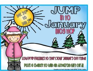 Jump into January: Low Prep Freebie Hop and Amazon Giveaway!