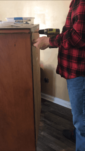 Removing the Back of the Dresser