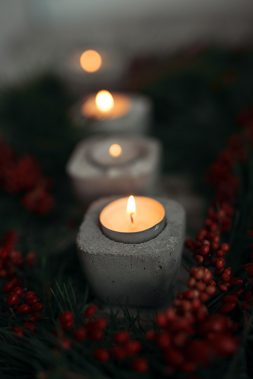 Adventskranz mit DIY Beton Kerzenhalter  Kreative Fotografie Tipps und Foto Hacks
