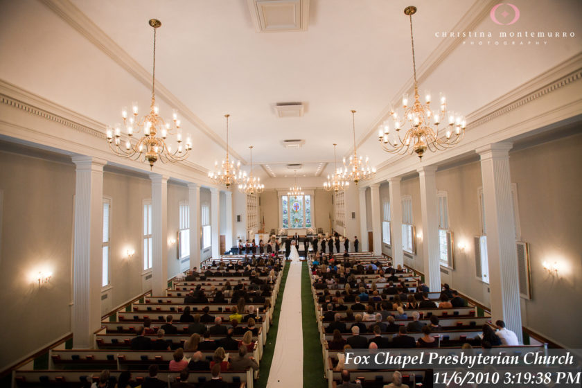 Fox Chapel Presbyterian Church Weddings  Pittsburgh