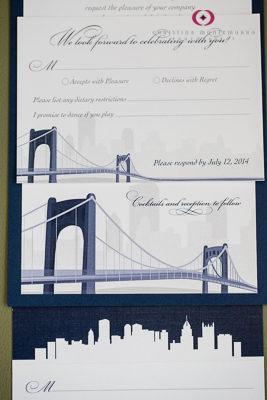 Purple Wagon Designs Pittsburgh Wedding Invitations