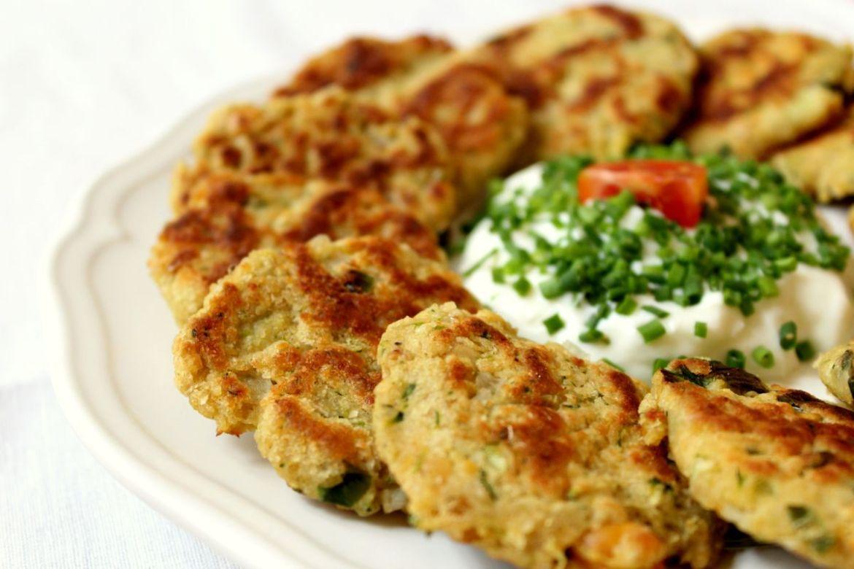 Kichererbsen Zucchini Laibchen
