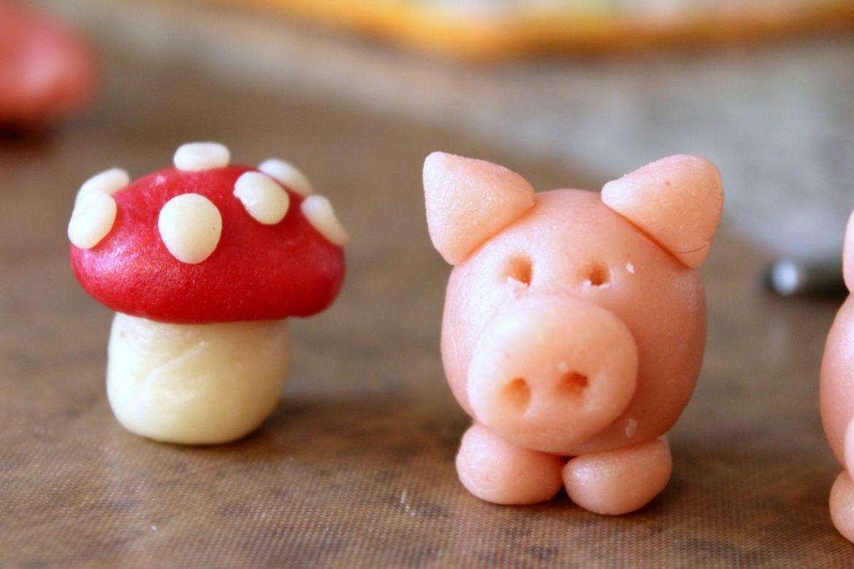 Glücksschwein aus Marzipan Silvester