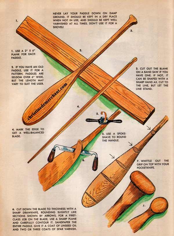 canoe paddle plans