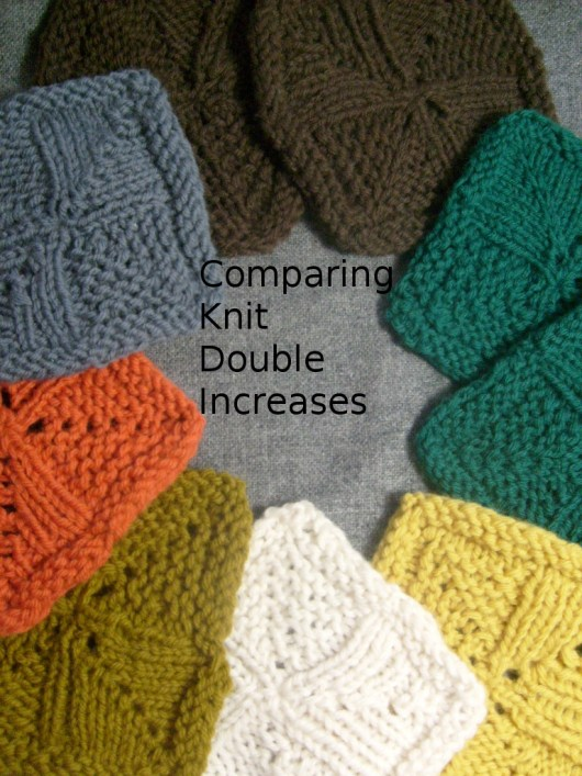 comparing Knit Double Increases