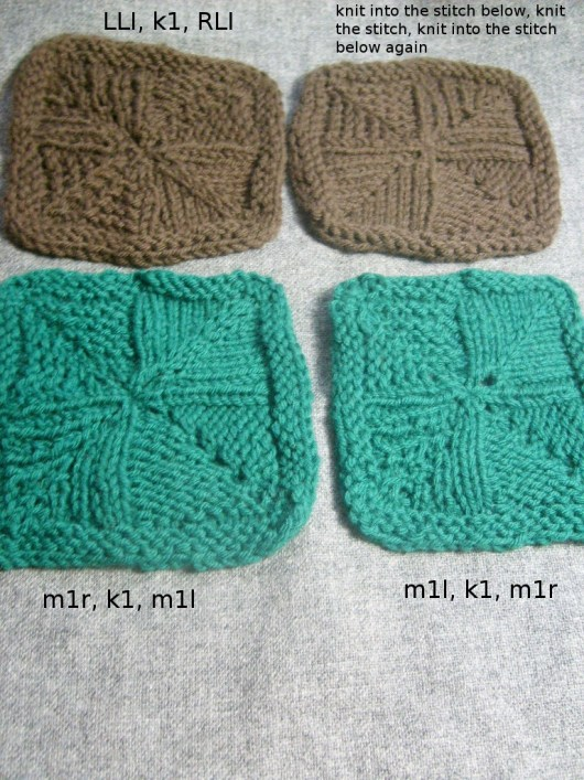 More Double Increase Swatches Christine Guest Designs Blog