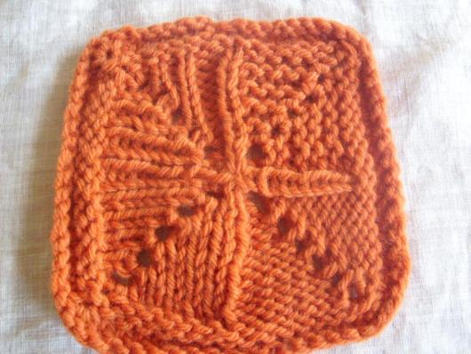 Back side of K1, p1, k1 or p1, k1, p1, in one stitch swatch