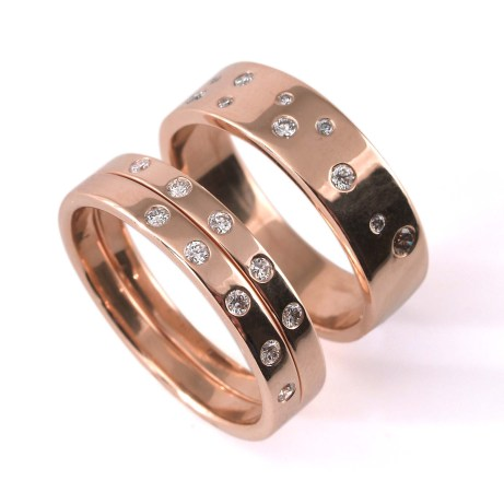 Rose Gold meaningful rings