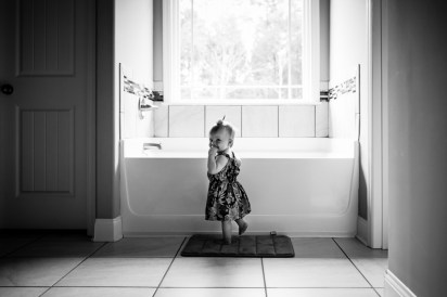 Family photography preserving memories, baby wants a bath