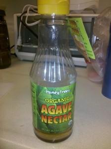 Bottle of agave nectar I just finished.