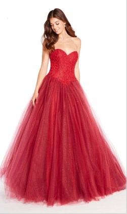Red-prom-ball-gown