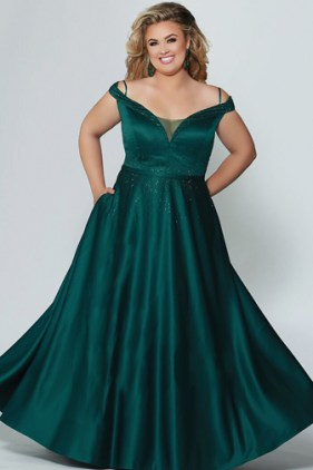Off-the-shoulder-plus-size-formal-gowns