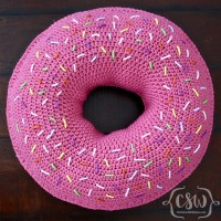Donut Pillow - Colorful Christine