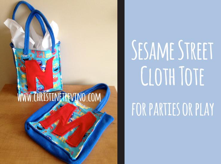 Sesame Street Cloth Totes