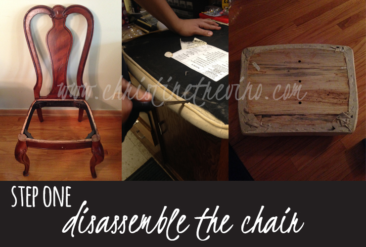 Step 1 | Disassemble the chair.