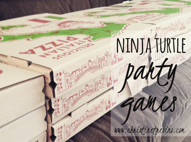 Ninja Turtle Party Games | Pizza Boxes