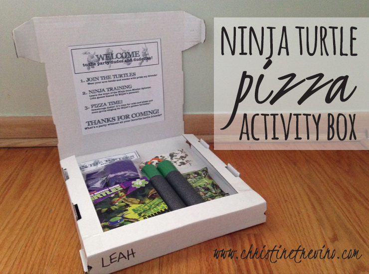 Inside Lid Pizza Activity Box