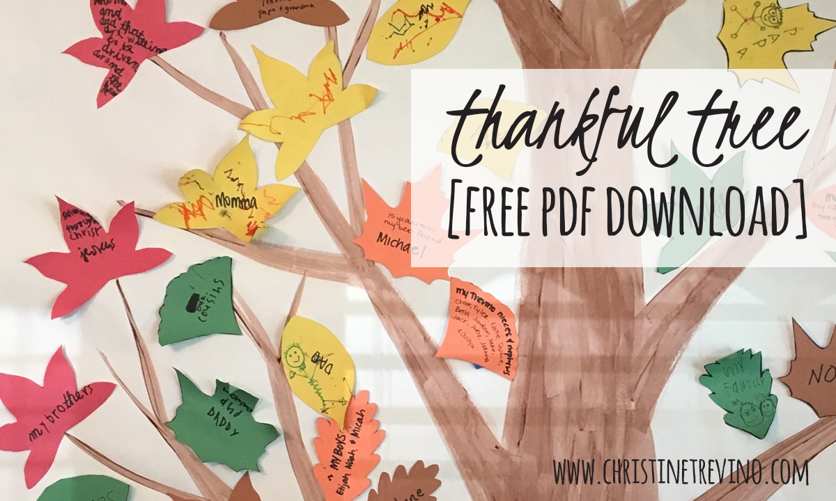 image relating to Thankful Tree Printable referred to as Grateful Tree [Free of charge Slide Leaves printable] Christine Trevino