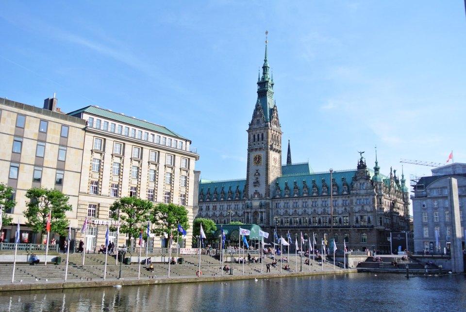 Innenstadt Hamburg Rathaus