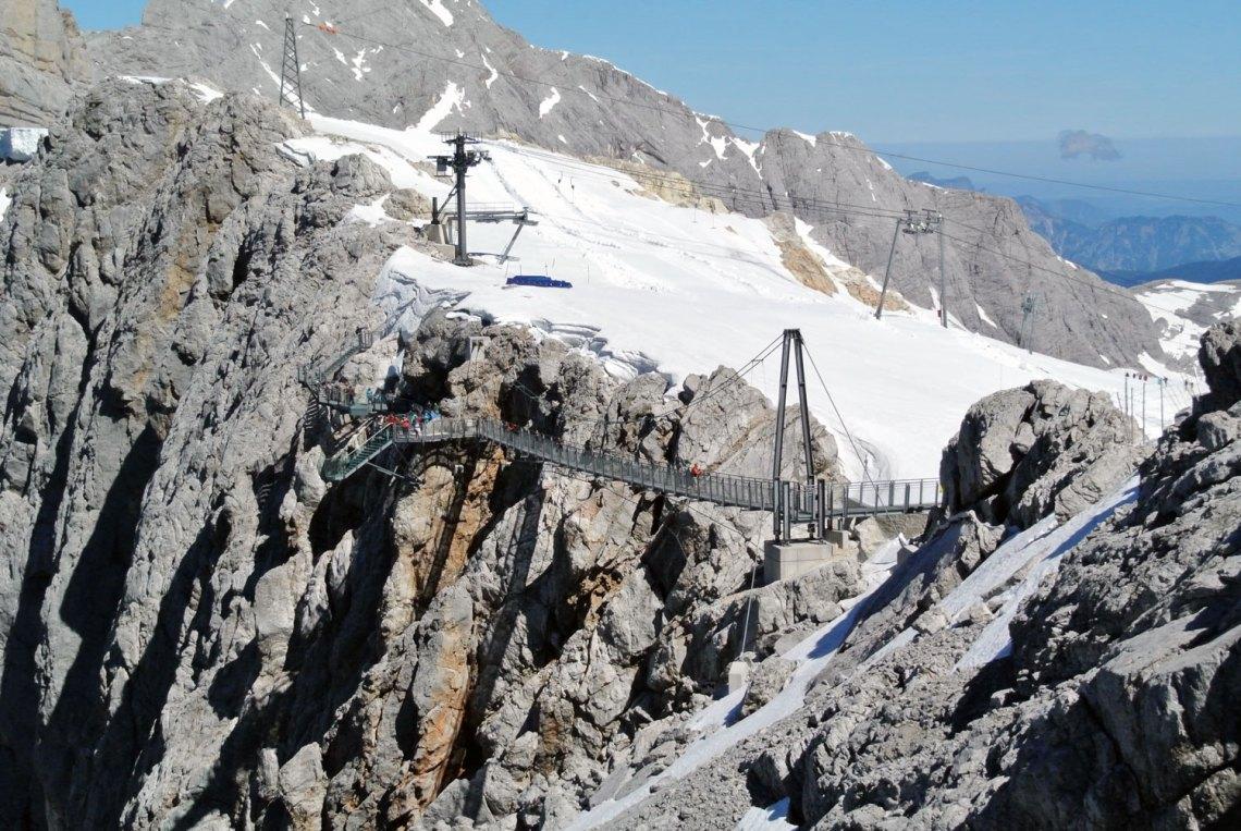 Hängebrücke am Dachstein Gletscher
