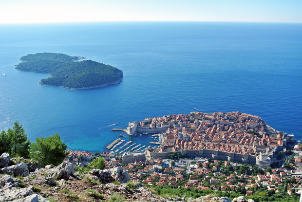 Blick vom Srd auf Dubrovnik und Lokrum