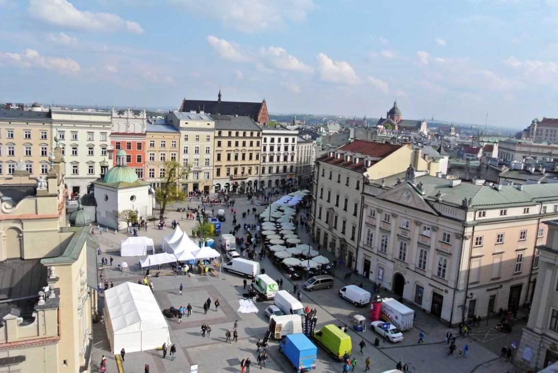 Aussicht Rathausturm Krakau