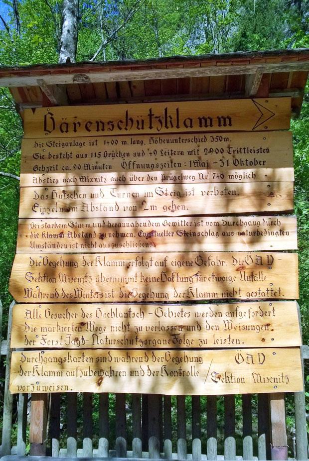 Wandern Bärenschützklamm Steiermark Infos