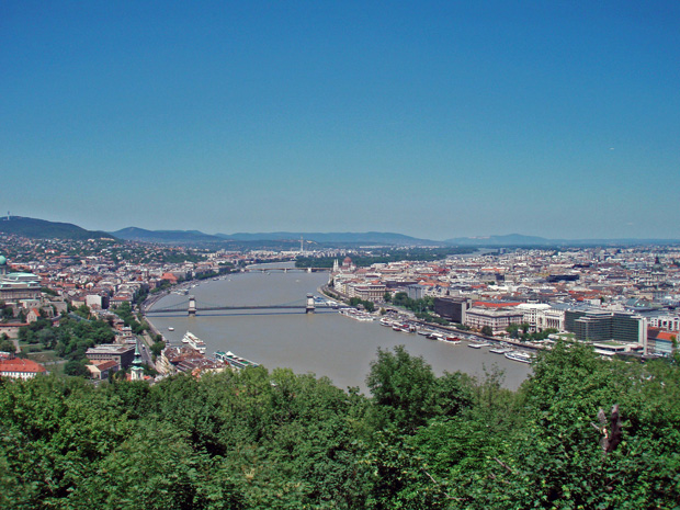 Ausblick vom Budaer Berg Budapest