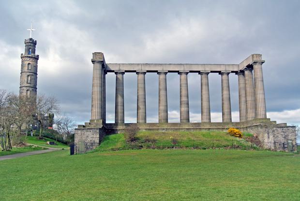 Nelson Monument und Nationale Monument Edinburgh
