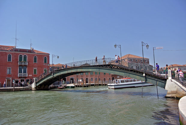 Brücke über den Kanal in Murano