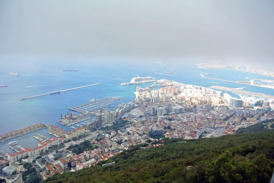 Aussicht vom Fels von Gibraltar