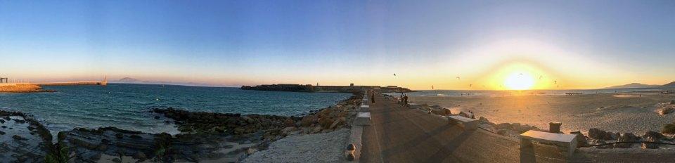 Sonnenuntergang in Tarifa, Andalusien in Spanien