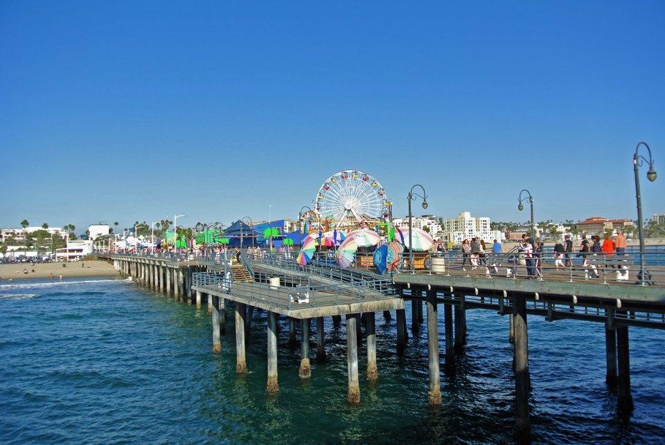 Santa Monica Pier in Kalifornien, USA