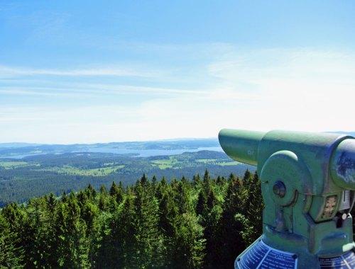 Fernrohr am Aussichtsturm Moldaublick