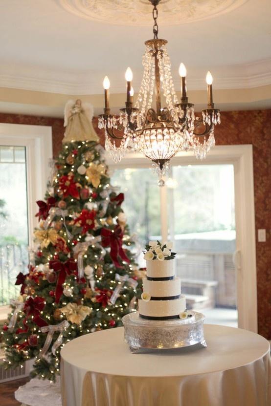 Trouwen met kerst ideen voor winterse decoratie