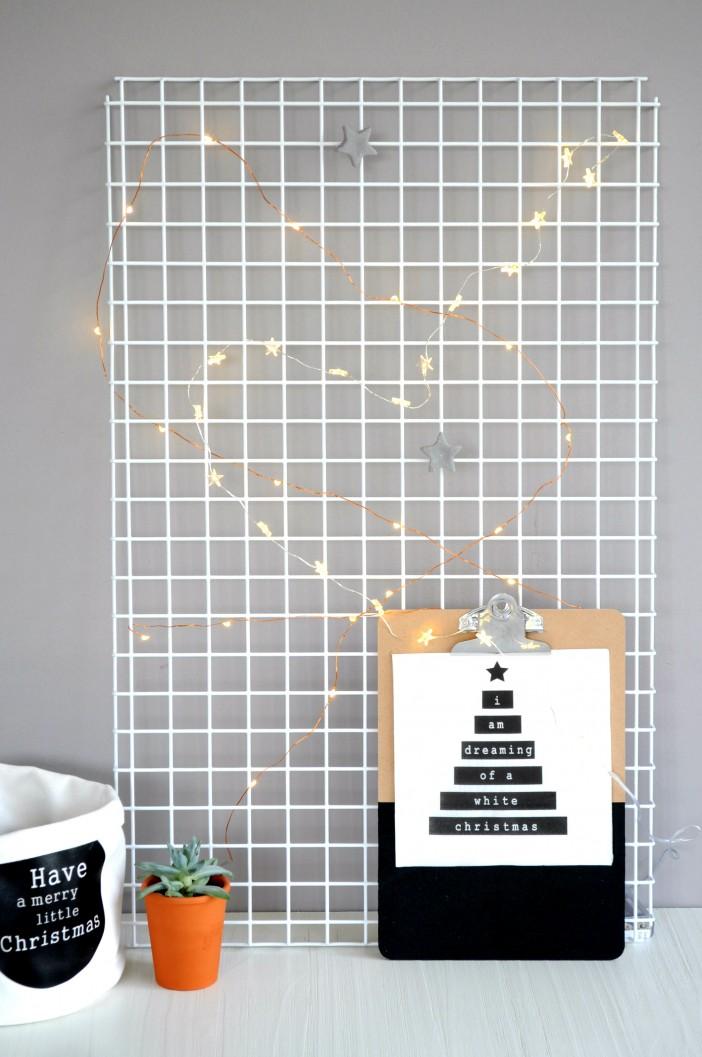 DIY wandrek versieren voor kerst