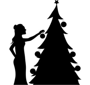 Free Christmas Clip Art Image: Decorating the Christmas Tree